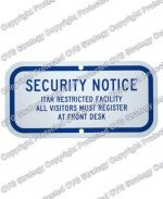 ITAR Compliance Sign
